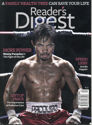 Boxer Manny Pacquiao on Reader's Digest cover in 2008