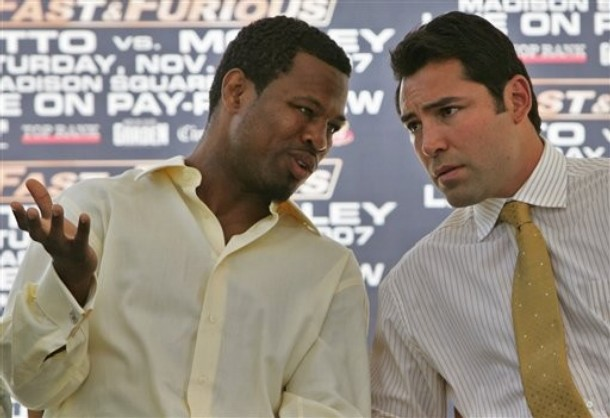 Sugar Shane Mosley and Oscar De La Hoya
