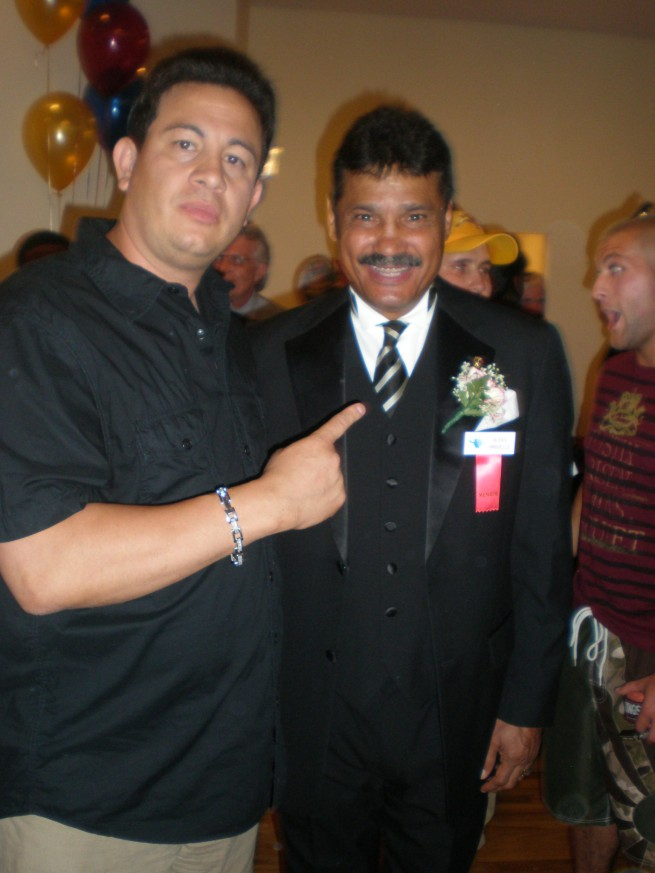 Milton Luban with Alexis Arguello