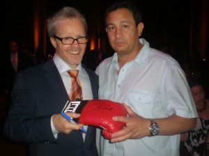 Boxing trainer Freddie Roach and Milton Luban Senor Authenticator for substancecollectables.com