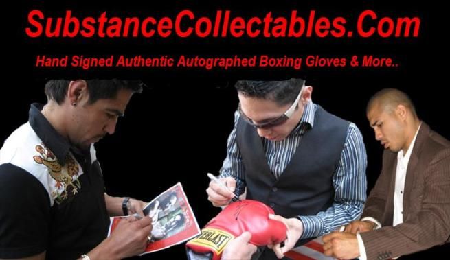 Autographed Boxing Collectibles at www.substancecollectables.com