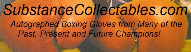Autographed boxing memorabilia and collectibles