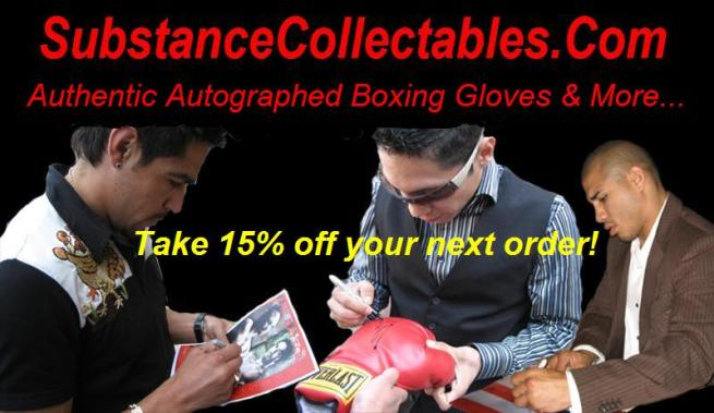 Autographed boxing glove sale for the pound for pound king Mayweather Jr.